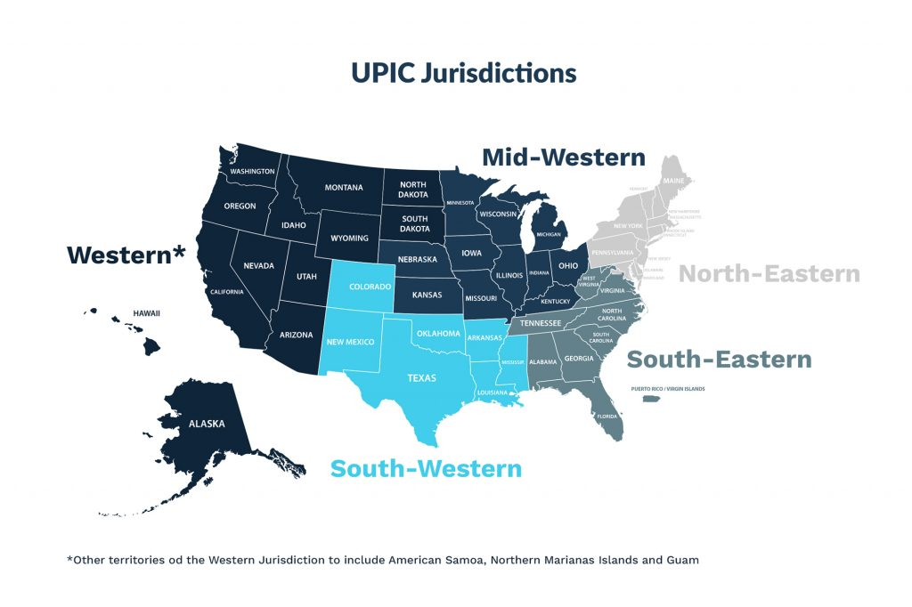 UPIC map
